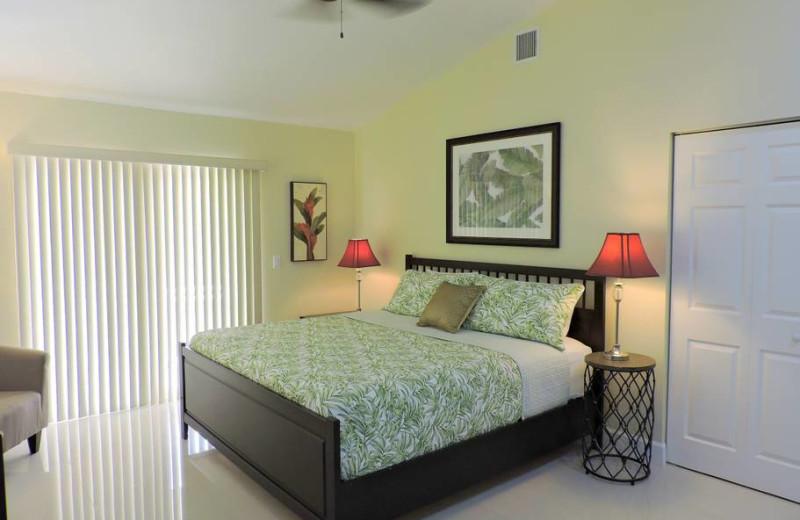 Rental bedroom at ValGal Vacation Rentals.
