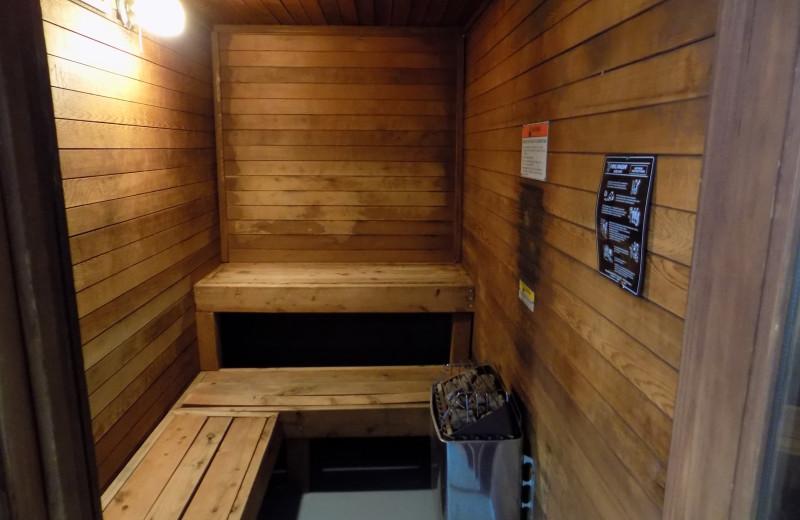 Sauna at Chautauqua Lodge.