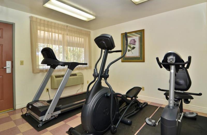 Fitness room at Abbey Inn