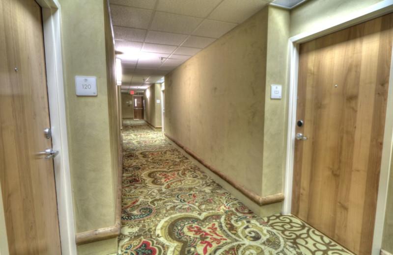 Hallway at The Lodge at Five Oaks.