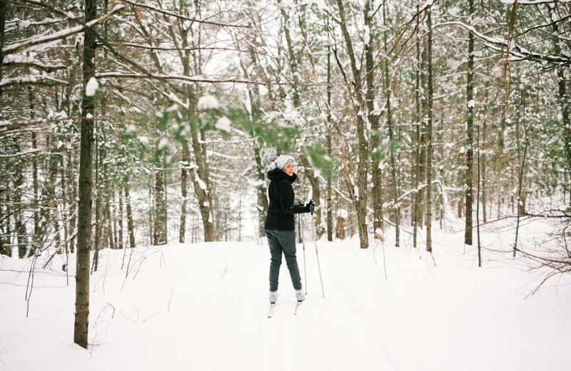 Skiing at Bayview Wildwood Resort.