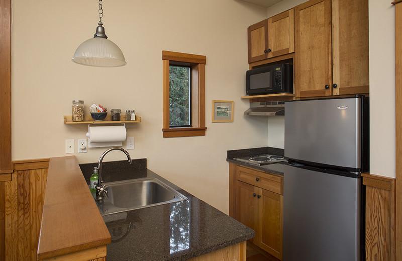 Guest kitchen at Pebble Cove Farm.