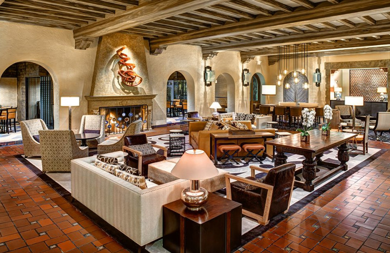 The lobby at The Fairmont Sonoma Mission Inn & Spa.