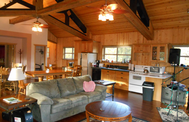 Interior view of DiamondStone Guest Lodges.