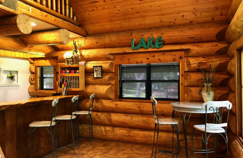 Cabin kitchen at Log Country Cove.