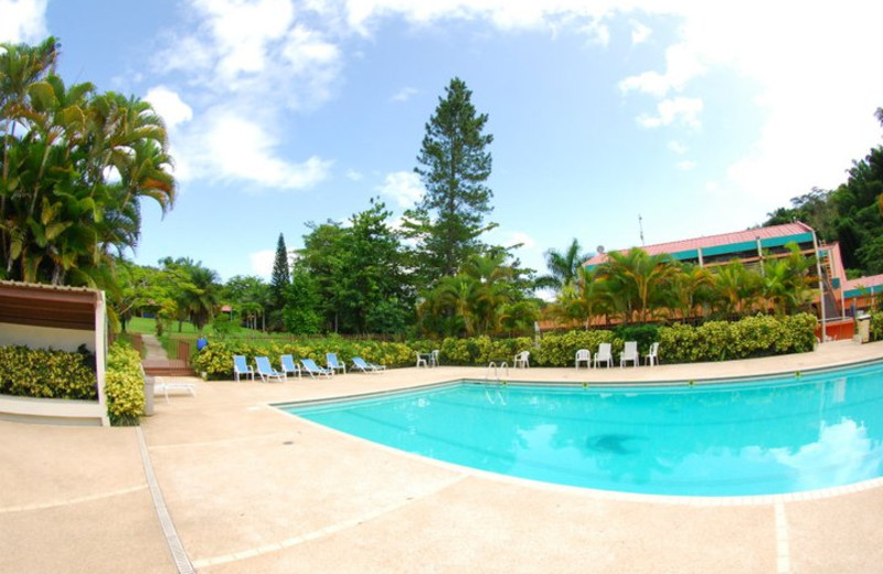 Outdoor pool at Parador Villas Sotomayor.