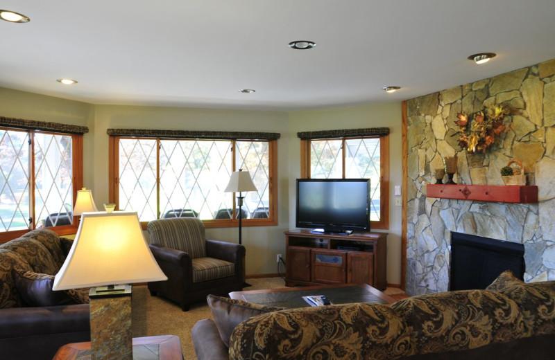 Chalet living room at Chula Vista Resort.