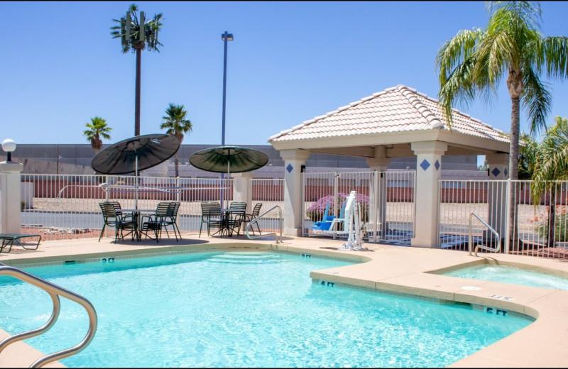 Outdoor pool at Motel 6 Tempe Asu.