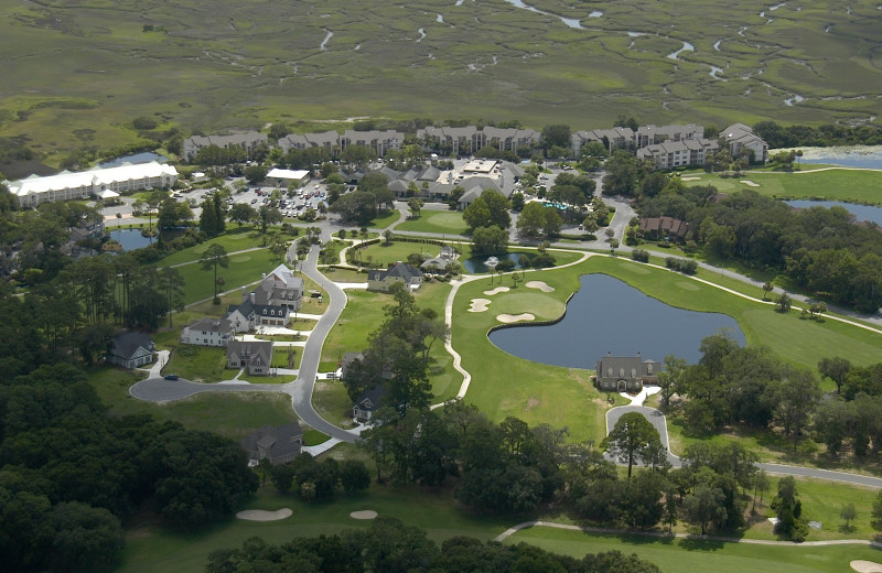 Aerial view of Sea Palms Resort.
