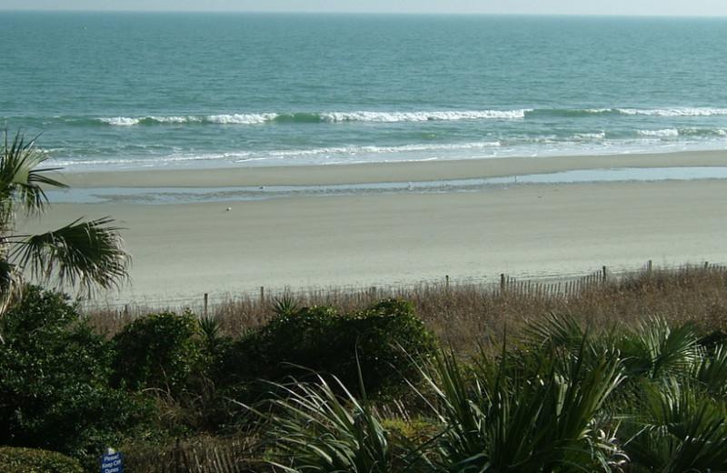 The beach at Grande Shores Ocean Resort.