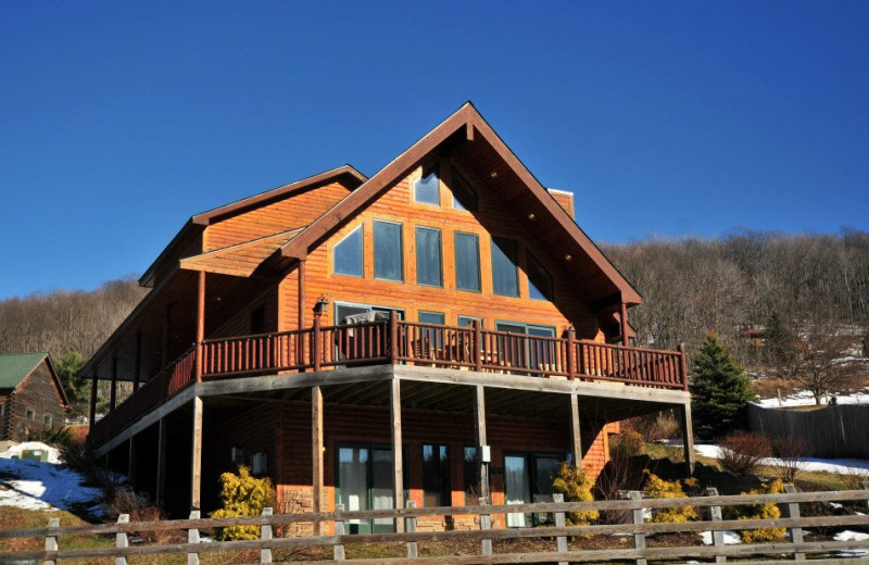 Rental exterior at Deep Creek Vacations.