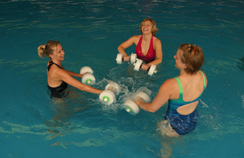 Water aerobics at Heartland Spa & Fitness Resort.