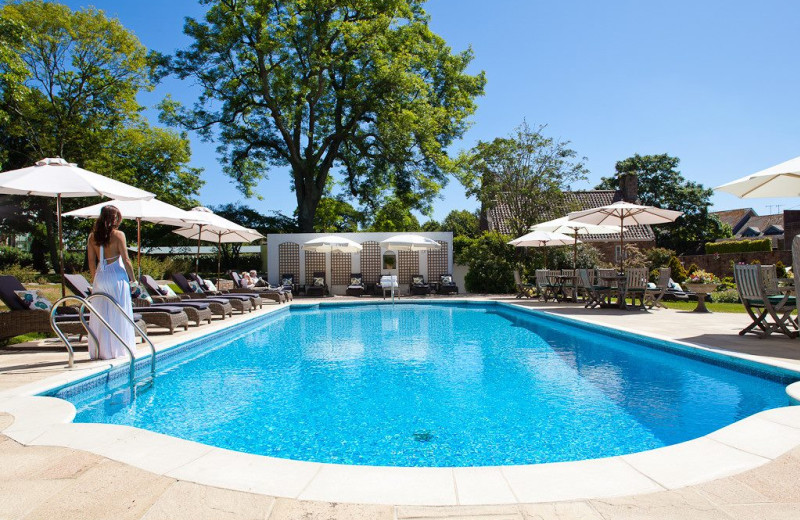 Outdoor pool at Longueville Manor.