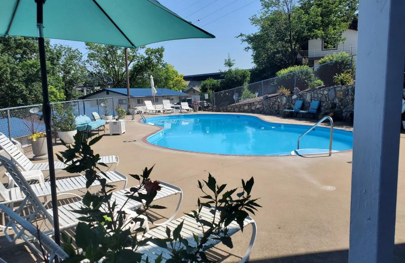 Outdoor pool at Lake Breeze Resort.