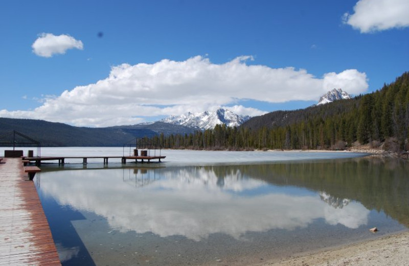The dock at Redfish Lake Lodge.