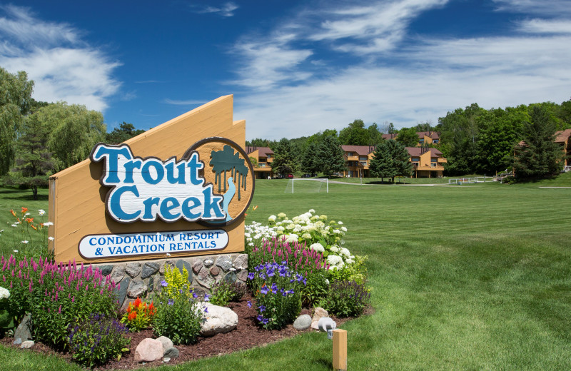 Exterior view of Trout Creek Vacation Condominiums.