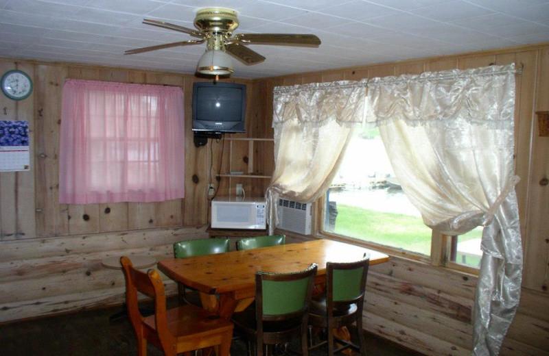 Cabin dining room at Four Seasons Resort.
