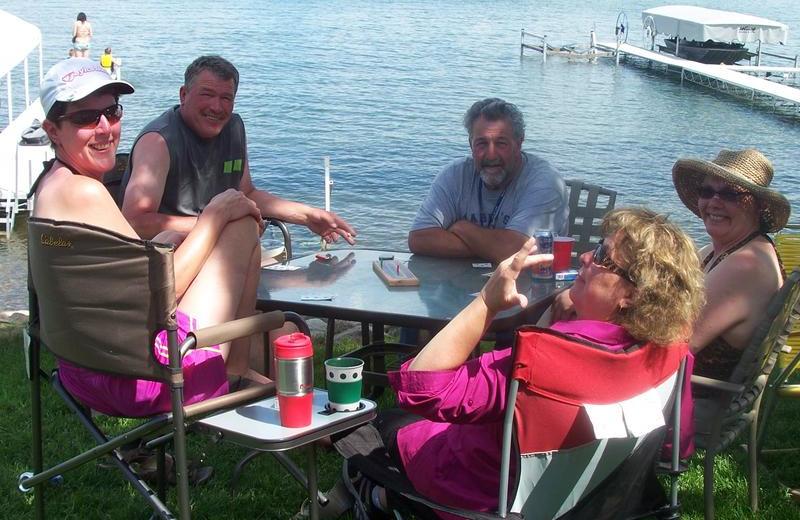Family at Barky's Resort.