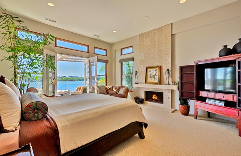 Rental bedroom at Seabreeze Vacation Rentals, LLC.