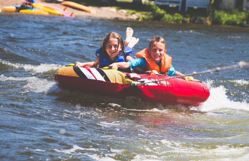 Water tubing at Elmhirst's Resort.