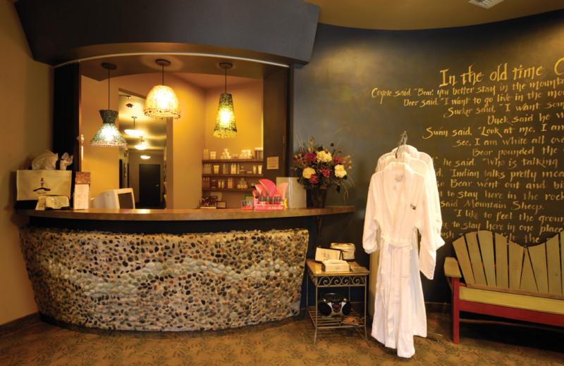 Spa lobby at Kah-Nee-Ta Resort and Spa.
