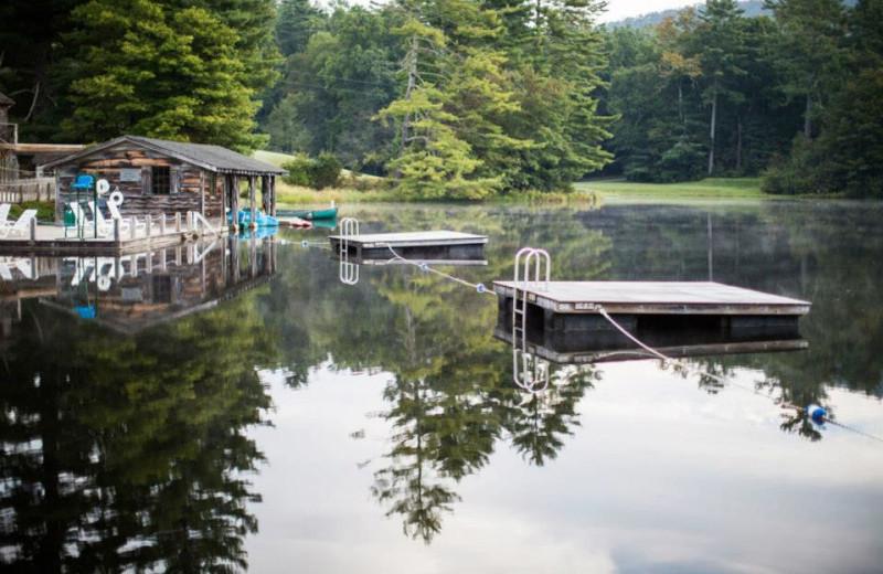Lake dock view at High Hampton Inn.