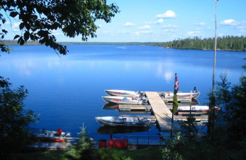 Boats at the Dock at Lac La Ronge Lodge