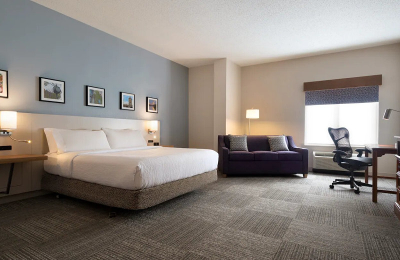 Guest room at Hilton Garden Inn Wilkes-Barre.
