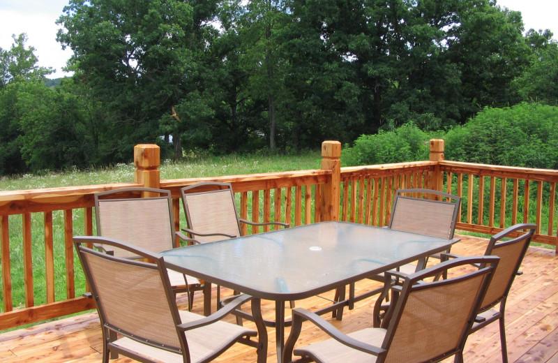 Deck view at Riverwood Resort.