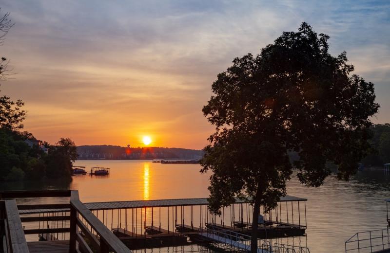 Sunset at Point Randall Resort.