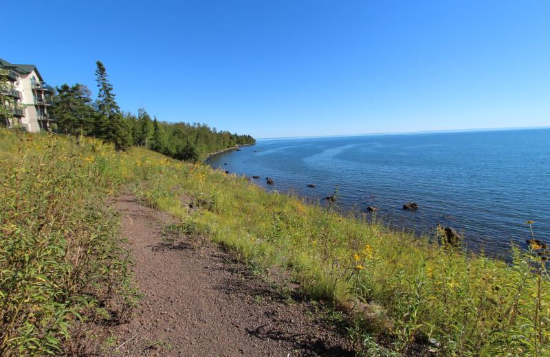 Walking path at Superior Shores Resort.