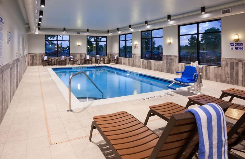 Indoor pool at Spicer Green Lake Resort.