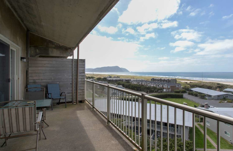 Rental balcony at Gearhart by the Sea.