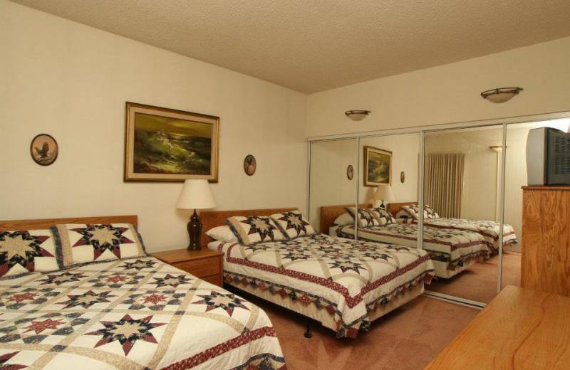 Condo bedroom at Sand & Sea Condominums.