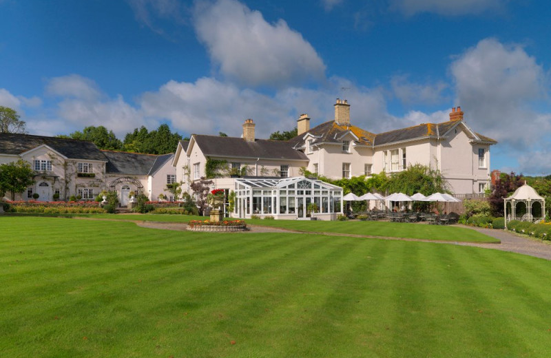 Exterior view of Summer Lodge Country House Hotel.