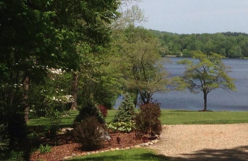 Lake view at Chateau Lake Logan.
