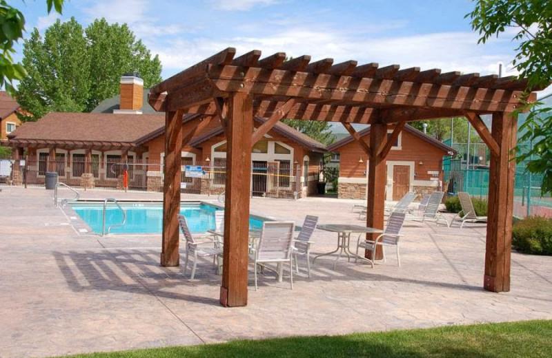 Patio at Lakeside Resort Properties.