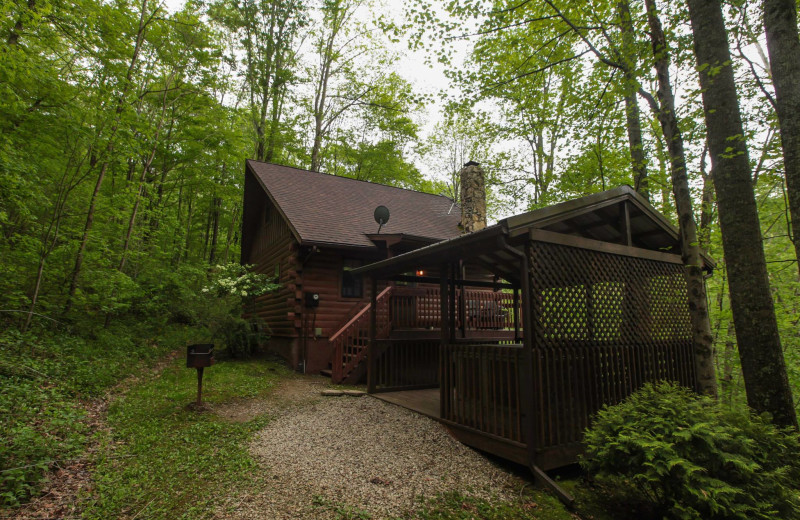 Chalet exterior at Old Man's Cave Chalets.