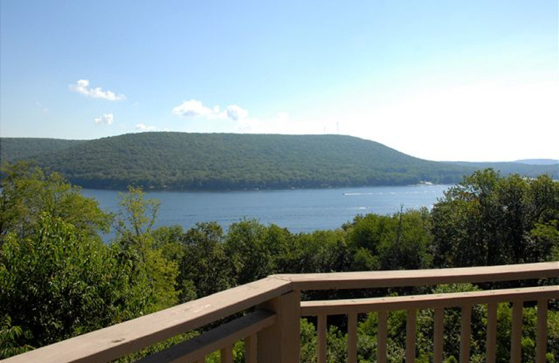 Lake view at Deep Creek Vacations.
