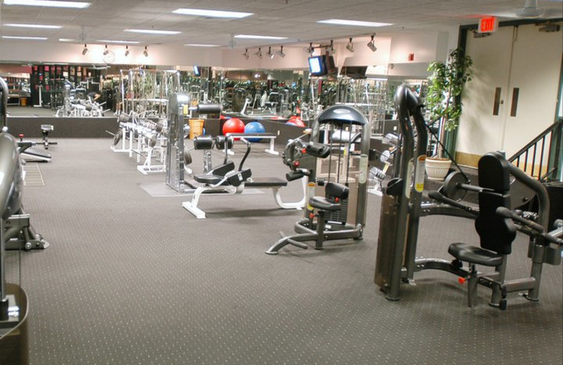 Fitness center at Olympia Resort.