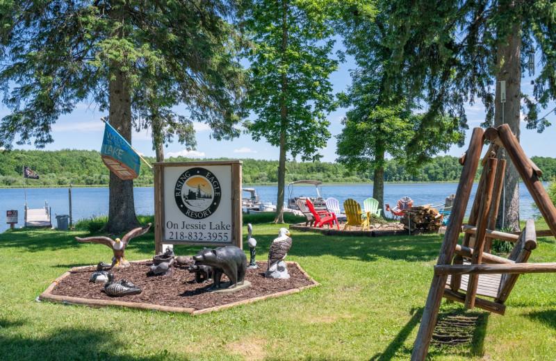 Lake view at Rising Eagle Resort.
