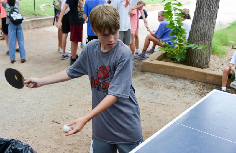 Ping pong at Camp Balcones Spring.
