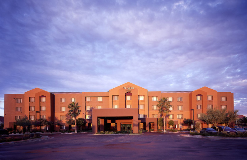Exterior view of SpringHill Suites Scottsdale North.
