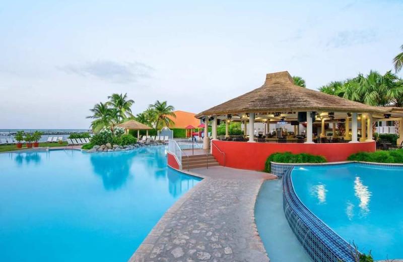 Outdoor pool at Embassy Suites Dorado del Mar.