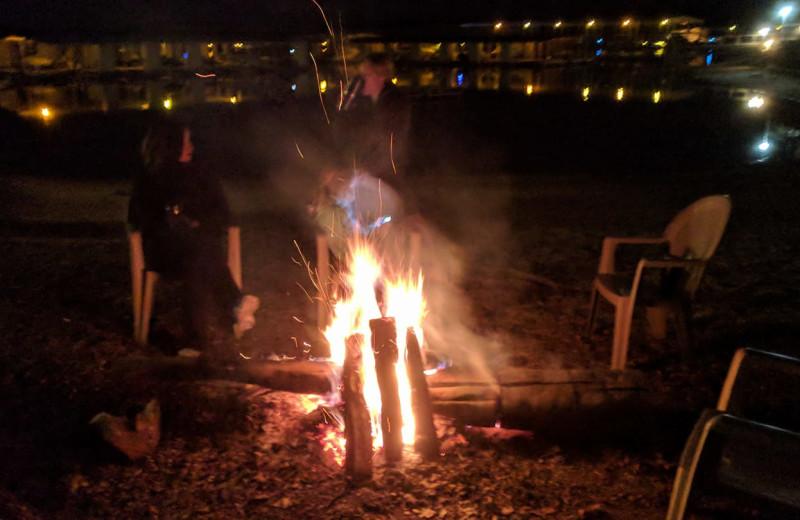 Bonfire at Kapilana Resort.
