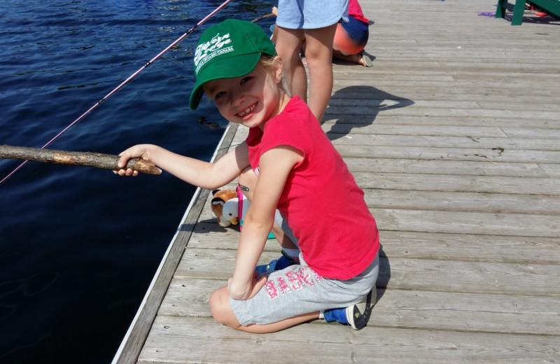 Fishing at Severn Lodge.
