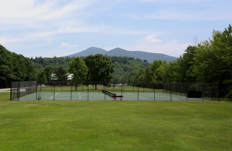 Tennis court at Glen Ellis Family Campground.