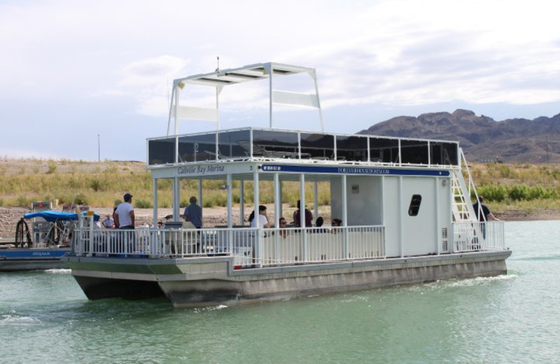 44' Patio Pontoon boat rental at Callville Bay.