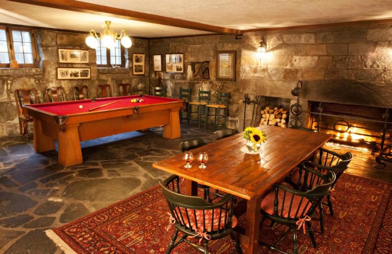 Rec room at Adair Country Inn.