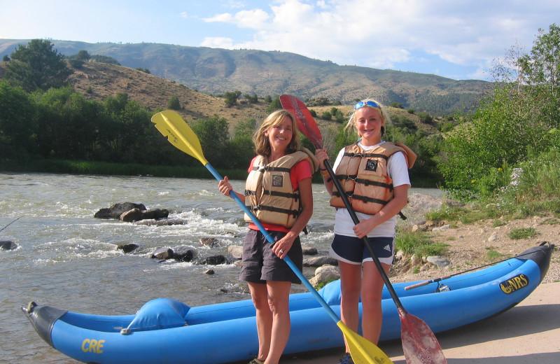 Kayaking at Rancho Del Rio.
